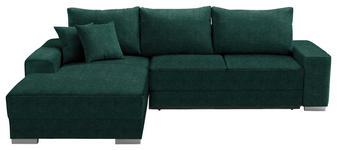WOHNLANDSCHAFT in Textil Türkis - Türkis/Silberfarben, Design, Kunststoff/Textil (196/276cm) - Cantus