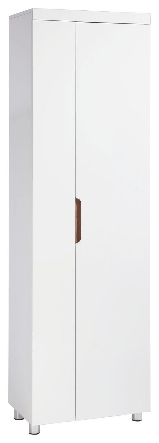 GARDEROBENSCHRANK Hochglanz, lackiert Nussbaumfarben, Weiß - Nussbaumfarben/Weiß, Design, Holzwerkstoff (59,5/196/36,5cm) - Xora