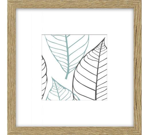 BILDERRAHMEN  Eichefarben  - Eichefarben, Basics, Glas/Holz (25/25/3cm)