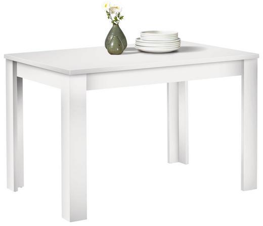 ESSTISCH rechteckig Weiß - Weiß, Design, Holzwerkstoff (120/80/78cm) - Carryhome