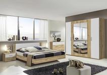 SCHLAFZIMMER in Weiß, Eichefarben  - Eichefarben/Weiß, Design, Glas/Holzwerkstoff (180/200cm) - Carryhome