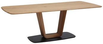 ESSTISCH in Holz 220/100/76 cm  - Eichefarben/Schwarz, Design, Holz (220/100/76cm) - Ambiente