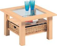 BEISTELLTISCH quadratisch Buchefarben - Buchefarben, KONVENTIONELL, Glas/Holzwerkstoff (65/65/45cm) - Cantus