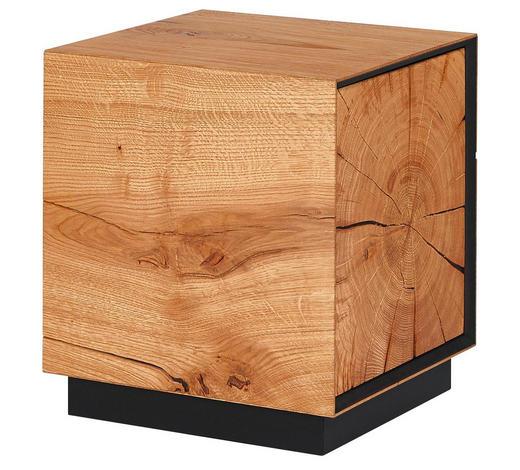 HOCKER in Holz Eichefarben - Eichefarben, Design, Holz (37,5/42,5/37,5cm)