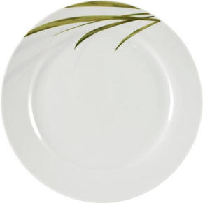 MATTALLRIK - vit/grön, Klassisk (24cm) - Ritzenhoff Breker