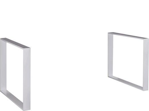 FUßSET Weiß - Weiß, Design, Metall (4/72/76cm) - Carryhome