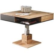 COUCHTISCH Altholz, Eiche massiv quadratisch Eichefarben  - Eichefarben, Design, Glas/Holz (90/90/38,5-74,5cm) - Voglauer