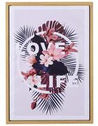 Textmotive BILD  - Beige/Multicolor, Trend, Kunststoff/Textil (50/70cm) - Monee