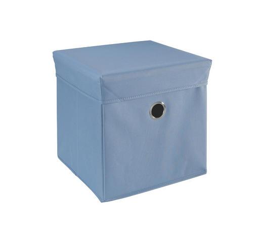 BOX NA HRAČKY - modrá, Trend, dřevo/textil (32/32/32cm) - My Baby Lou