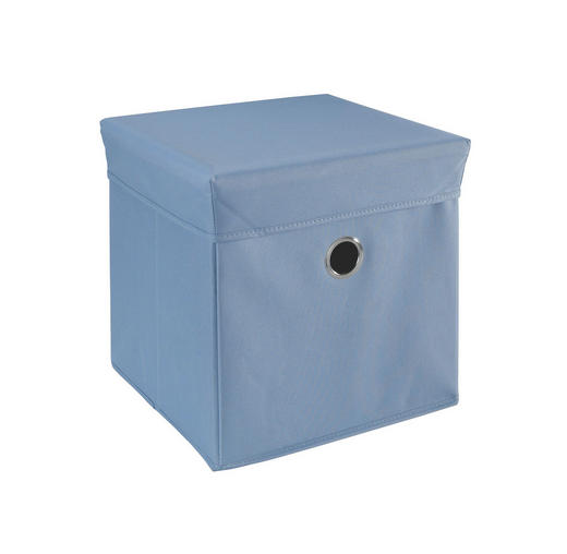 BOX NA HRAČKY - modrá, Trend, dřevo/textilie (32/32/32cm) - My Baby Lou