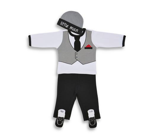 SOUPRAVA DĚTSKÉHO OBLEČENÍ - šedá/bílá, Basics, textil - My Baby Lou
