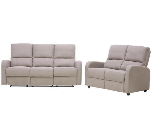 SITZGARNITUR in Textil Grau - Schwarz/Grau, KONVENTIONELL, Kunststoff/Textil (132/100/91,5cm) - Cantus