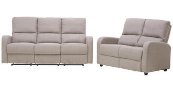 SJEDEĆA GARNITURA - siva/crna, Konvencionalno, tekstil/plastika (188+132cm)