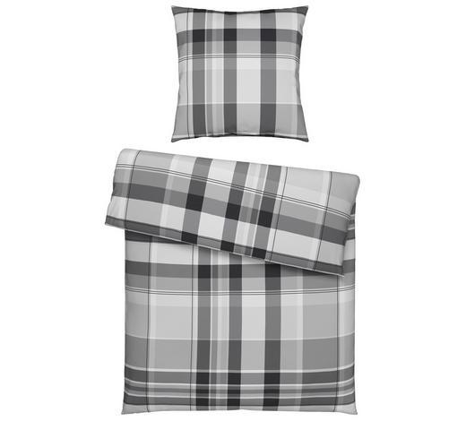 BETTWÄSCHE Flanell Silberfarben 155/220 cm  - Silberfarben, Design, Textil (155/220cm) - Novel