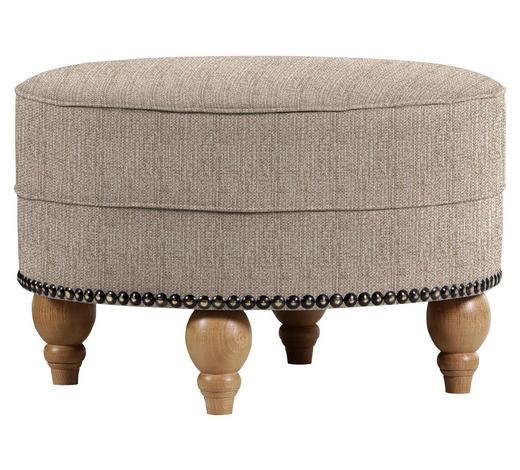 HOCKER in Textil Cappuccino - Eichefarben/Cappuccino, Design, Holz/Textil (77/43cm) - Carryhome