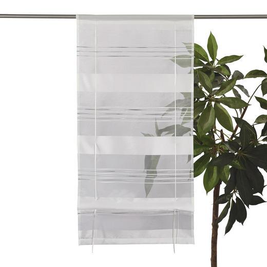 RAFFROLLO  halbtransparent   80/130 cm - Weiß, Basics, Textil (80/130cm) - Esposa