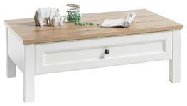 COUCHTISCH in Holzwerkstoff 110/60/40 cm   - Eichefarben/Weiß, Basics, Holzwerkstoff/Metall (110/60/40cm) - Hom`in