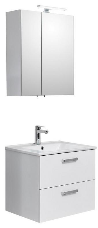 BADEZIMMER - Weiß, Design, Glas/Keramik (65//cm) - Xora