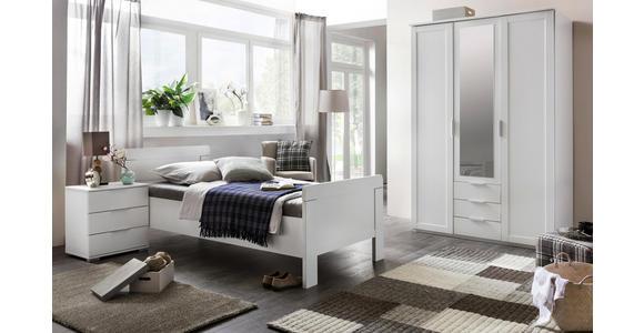 NACHTKÄSTCHEN in Weiß  - Silberfarben/Weiß, KONVENTIONELL, Holzwerkstoff (52/58/38cm) - Cantus