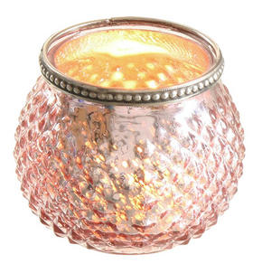 LJUSLYKTA - gammelrosa, Trend, glas (10/8,5cm) - X-Mas