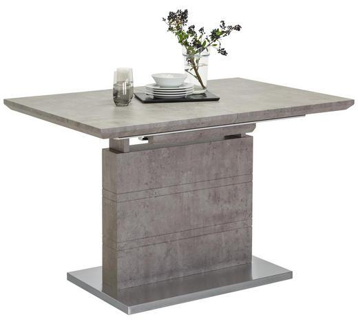 ESSTISCH rechteckig Grau, Edelstahlfarben  - Edelstahlfarben/Grau, Design, Metall (120(170)/80/76cm) - Carryhome