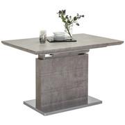 JEDILNA MIZA, siva, nerjaveče jeklo  - siva/nerjaveče jeklo, Design, kovina/leseni material (120(170)/80/76cm) - Carryhome
