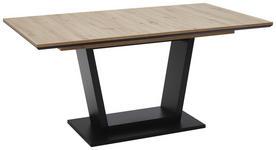 ESSTISCH rechteckig Schwarz, Eichefarben  - Eichefarben/Schwarz, Design, Holzwerkstoff (160(200)/90/76cm) - Valnatura