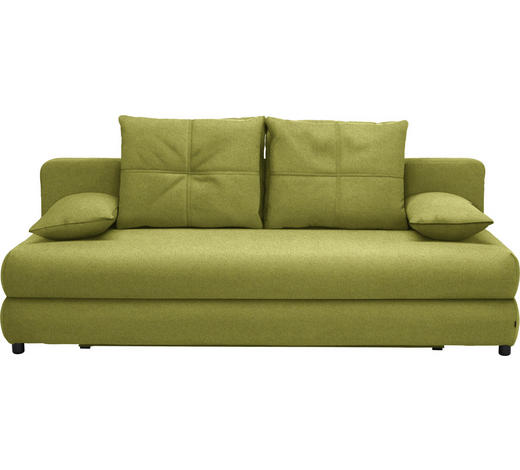 SCHLAFSOFA in Textil Grün - Schwarz/Grün, Design, Kunststoff/Textil (208/73-90/102cm) - Hom`in
