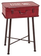 BEISTELLTISCH rechteckig Rot, Schwarz - Rot/Schwarz, Trend, Metall (48/67/31cm) - Carryhome