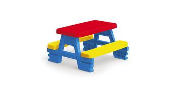 PICKNICK TISCH 3008 - Blau/Gelb, KONVENTIONELL, Kunststoff (68,5/73,5/42,5cm)
