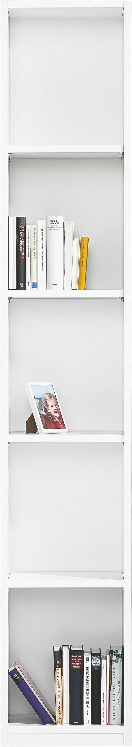 REGAL in Weiß - Weiß, Design, Holzwerkstoff (39/222/30cm) - Moderano