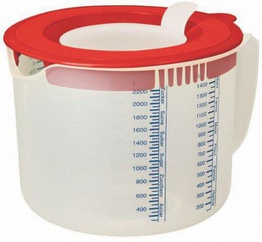 MESSBECHER - Klar/Rot, Basics, Kunststoff (18.5/21/16cm) - DR.OETKER