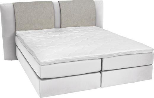 BOXSPRINGBETT  in Grau, Weiß - Alufarben/Weiß, KONVENTIONELL, Kunststoff/Textil (160/200/cm) - Bentley