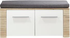 GARDEROBENBANK Grau, Weiß, Eichefarben  - Eichefarben/Silberfarben, KONVENTIONELL, Holzwerkstoff/Kunststoff (90/44/36cm) - Xora