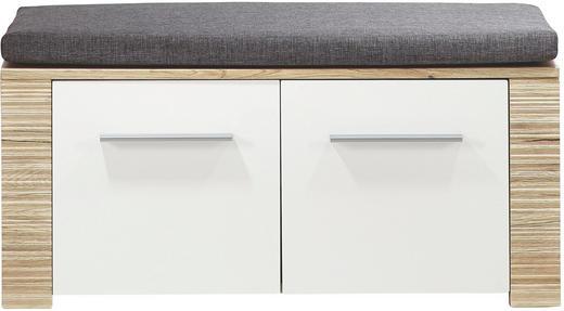 GARDEROBENBANK Eichefarben, Grau, Weiß - Eichefarben/Silberfarben, KONVENTIONELL, Holzwerkstoff/Kunststoff (90/44/36cm) - Xora