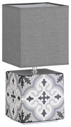 TISCHLEUCHTE - Weiß/Grau, Design, Textil/Metall (32cm)