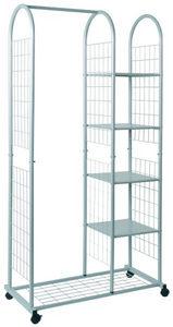 STALAK ZA ODEĆU - Boja aluminijuma, Dizajnerski, Plastika/Metal (85/171/38cm) - Boxxx
