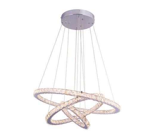 LED-HÄNGELEUCHTE - Klar/Chromfarben, KONVENTIONELL, Glas/Metall (70/120cm)