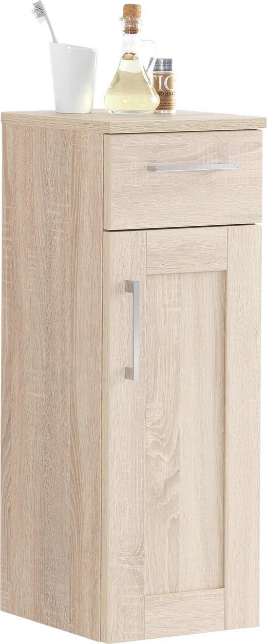 UNTERSCHRANK - Eichefarben/Alufarben, KONVENTIONELL, Holzwerkstoff/Metall (30/82.5/31.5cm) - XORA