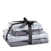 FROTTIERSET 4-teilig  - Dunkelgrau/Silberfarben, Design, Textil - Vossen