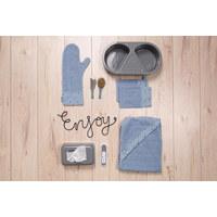 KAPUZENBADETUCH - Blau/Schwarz, Trend, Textil (85/75cm) - Bebe Jou
