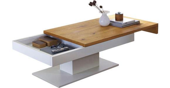 COUCHTISCH in Holz, Holzwerkstoff 125/75/45 cm - Eichefarben/Alufarben, Design, Holz/Holzwerkstoff (125/75/45cm) - Voleo