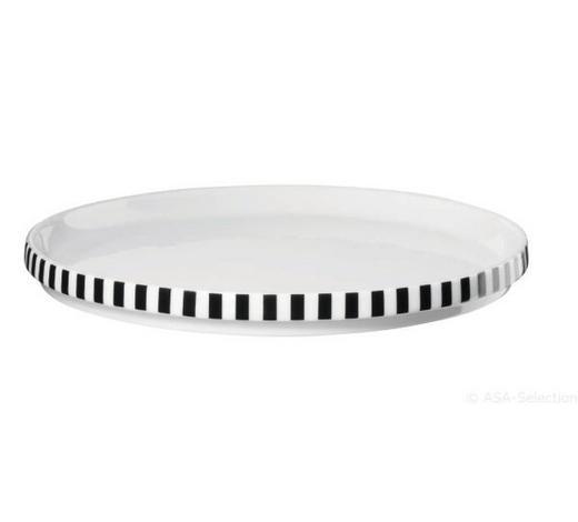 Dessertteller Set 2tlg  2-teilig  - Schwarz/Weiß, Design, Keramik (18,5/1,5cm) - ASA