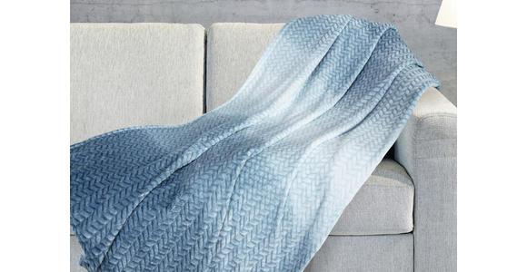 Kuscheldecke Debora - Türkis, MODERN, Textil (140/180cm) - Luca Bessoni
