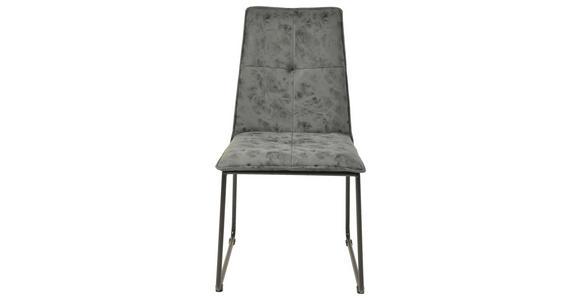 STUHL in Metall, Textil Greige, Schwarz - Greige/Schwarz, Design, Textil/Metall (48/90/57cm) - Hom`in