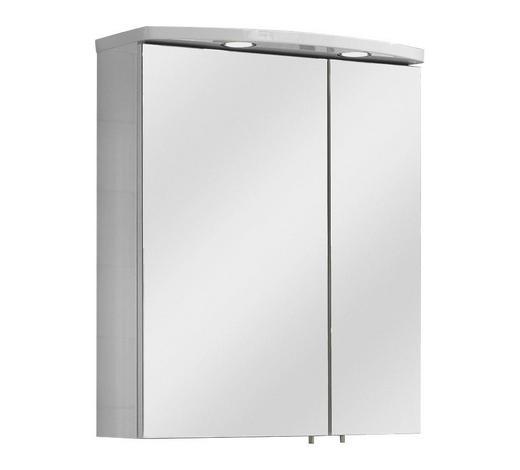 SPIEGELSCHRANK Weiß  - Chromfarben/Weiß, KONVENTIONELL, Glas/Holzwerkstoff (60/73/18cm) - Xora