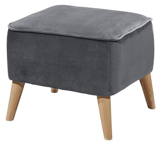 HOCKER in Textil, Holzwerkstoff Grau - Kieferfarben/Grau, Trend, Holz/Holzwerkstoff (47/36/47cm) - Carryhome