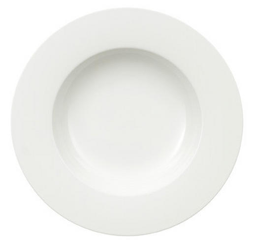 SUPPENTELLER Bone China - Weiß, Basics (24cm) - Villeroy & Boch