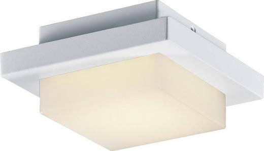 AUßENDECKENLEUCHTE - Weiß, Design, Glas/Metall (14/6,5/14cm)