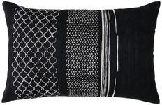 KISSENHÜLLE Schwarz 35/55 cm  - Schwarz, Design, Textil (35/55cm) - Ambiente